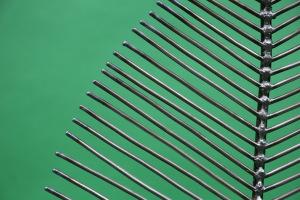 kleines Blatt  aus Stahl (1)