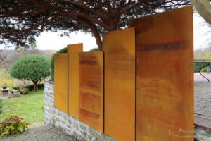 Wand Aus Corten Stahl Schmitzlab